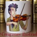 Taza personalizada para el profe de violín