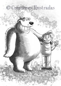 El oso Fructuoso haciendo amigos