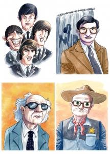 Caricaturas para libro de música
