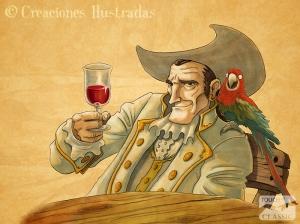 Long John Silver, dado a la buena vida