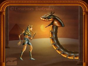 Tamino se encuentra con la serpiente