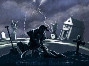 Víctor Frankenstein buscando materia prima