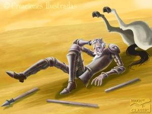 Don Quijote derrotado por los molinos ¿O eran gigantes?