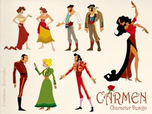 Diseño de personajes para la ópera interactiva Carmen
